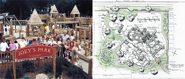 Joey's Park, then and now